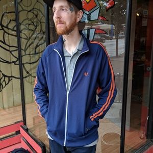 Fred Perry track jacket mens size L